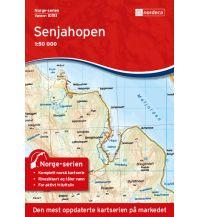 Wanderkarten Skandinavien Norge-serien-Karte 10151, Senjahopen 1:50.000 Nordeca AS