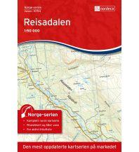 Wanderkarten Skandinavien Norge-serien-Karte 10154, Reisadalen 1:50.000 Nordeca AS
