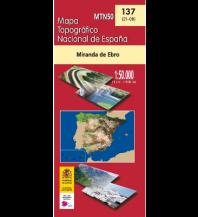 Wanderkarten Spanien CNIG-Karte MTN50 137, Miranda de Ebro 1:50.000 Direccion General del Instituto Geografico Nacional