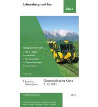 Wanderkarten Steiermark BEV-Karte Schneeberg und Rax 1:25.000 BEV – Bundesamt für Eich- und Vermessungswesen