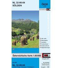 Wanderkarten Tirol BEV-Karte 2104, Sölden 1:50.000 BEV – Bundesamt für Eich- und Vermessungswesen