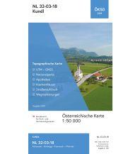 Wanderkarten Tirol BEV-Karte 2218, Kundl 1:50.000 BEV – Bundesamt für Eich- und Vermessungswesen