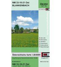 Wanderkarten Oberösterreich BEV-Karte 3321-Ost, Blankenbach 1:25.000 BEV – Bundesamt für Eich- und Vermessungswesen
