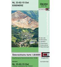 Wanderkarten Steiermark BEV-Karte 4215-Ost, Eisenerz 1:25.000 BEV – Bundesamt für Eich- und Vermessungswesen