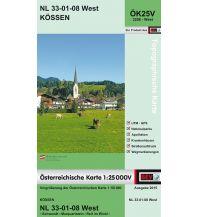 Wanderkarten Tirol BEV-Karte 3208-West, Kössen 1:25.000 BEV – Bundesamt für Eich- und Vermessungswesen