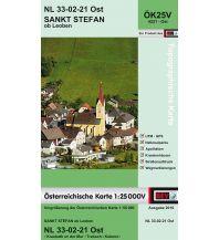 Wanderkarten Steiermark BEV-Karte 4221-Ost, Sankt Stefan ob Leoben 1:25.000 BEV – Bundesamt für Eich- und Vermessungswesen