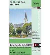 Wanderkarten Steiermark BEV-Karte 4227-West, Zeltweg 1:25.000 BEV – Bundesamt für Eich- und Vermessungswesen
