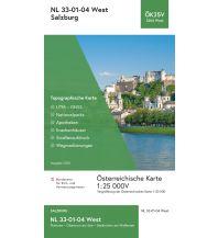 Wanderkarten Salzburg BEV-Karte 3204-West, Salzburg 1:25.000 BEV – Bundesamt für Eich- und Vermessungswesen