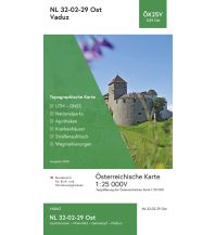 Wanderkarten Vorarlberg BEV-Karte 1229-Ost, Vaduz 1:25.000 BEV – Bundesamt für Eich- und Vermessungswesen