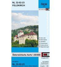 Wanderkarten Vorarlberg BEV-Karte 1223, Feldkirch 1:50.000 BEV – Bundesamt für Eich- und Vermessungswesen