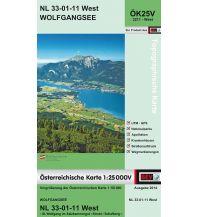 Wanderkarten Salzkammergut BEV-Karte 3211-West, Wolfgangsee 1:25.000 BEV – Bundesamt für Eich- und Vermessungswesen