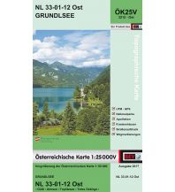 Wanderkarten Steiermark BEV-Karte 3212-Ost, Grundlsee 1:25.000 BEV – Bundesamt für Eich- und Vermessungswesen