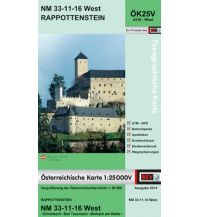 Wanderkarten Niederösterreich BEV-Karte 4316-West, Rappottenstein 1:25.000 BEV – Bundesamt für Eich- und Vermessungswesen