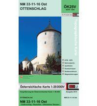 Wanderkarten Niederösterreich BEV-Karte 4316-Ost, Ottenschlag 1:25.000 BEV – Bundesamt für Eich- und Vermessungswesen