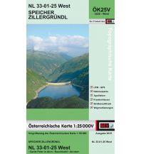 Wanderkarten Südtirol & Dolomiten BEV-Karte 3225-West, Speicher Zillergründl 1:25.000 BEV – Bundesamt für Eich- und Vermessungswesen