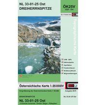 Wanderkarten Tirol BEV-Karte 3225-Ost, Dreiherrnspitze 1:25.000 BEV – Bundesamt für Eich- und Vermessungswesen
