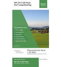 Wanderkarten Oberösterreich BEV-Karte 4308-West, Dorf Leopoldschlag 1:25.000 BEV – Bundesamt für Eich- und Vermessungswesen