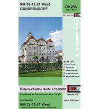 Wanderkarten Niederösterreich BEV-Karte 5321-West, Gänserndorf 1:25.000 BEV – Bundesamt für Eich- und Vermessungswesen
