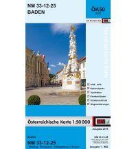 Wanderkarten Wien BEV-Karte 5325, Baden 1:50.000 BEV – Bundesamt für Eich- und Vermessungswesen