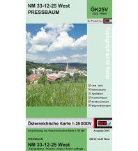 Wanderkarten Niederösterreich BEV-Karte 5325-West, Pressbaum 1:25.000 BEV – Bundesamt für Eich- und Vermessungswesen