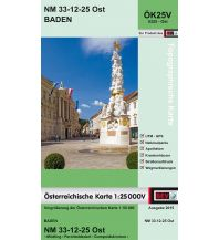 Wanderkarten Wien BEV-Karte 5325-Ost, Baden (& Wien) 1:25.000 BEV – Bundesamt für Eich- und Vermessungswesen
