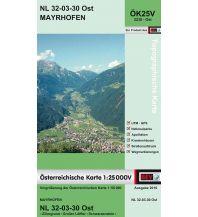 Wanderkarten Tirol BEV-Karte 2230-Ost, Mayrhofen 1:25.000 BEV – Bundesamt für Eich- und Vermessungswesen