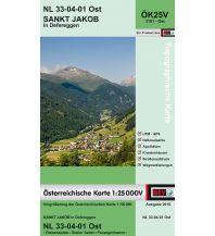 Wanderkarten Osttirol BEV-Karte 3101-Ost, Sankt Jakob in Defereggen 1:25.000 BEV – Bundesamt für Eich- und Vermessungswesen
