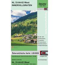 Wanderkarten Tirol BEV-Karte 3102-West, Innervillgraten 1:25.000 BEV – Bundesamt für Eich- und Vermessungswesen