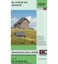 Wanderkarten Kärnten BEV-Karte 4102-Ost, Saualpe 1:25.000 BEV – Bundesamt für Eich- und Vermessungswesen