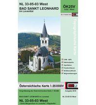 Wanderkarten Kärnten BEV-Karte 4103-West, Bad Sankt Leonhard im Lavanttal 1:25.000 BEV – Bundesamt für Eich- und Vermessungswesen