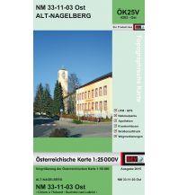 Wanderkarten Niederösterreich BEV-Karte 4303-Ost, Alt-Nagelberg 1:25.000 BEV – Bundesamt für Eich- und Vermessungswesen