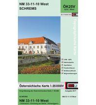 Wanderkarten Niederösterreich BEV-Karte 4310-West, Schrems 1:25.000 BEV – Bundesamt für Eich- und Vermessungswesen