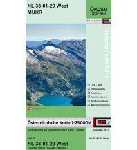 Wanderkarten Salzburg BEV-Karte 3229-West, Muhr 1:25.000 BEV – Bundesamt für Eich- und Vermessungswesen