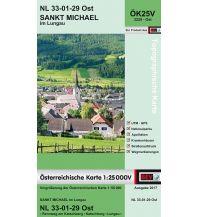 Wanderkarten Salzburg BEV-Karte 3229-Ost, Sankt Michael im Lungau 1:25.000 BEV – Bundesamt für Eich- und Vermessungswesen