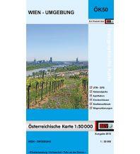 Wanderkarten Wien BEV-Karte Wien - Umgebung 1:50.000 BEV – Bundesamt für Eich- und Vermessungswesen
