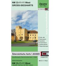 Wanderkarten Niederösterreich BEV-Karte 4311-West, Groß-Siegharts 1:25.000 BEV – Bundesamt für Eich- und Vermessungswesen