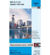 Wanderkarten Niederösterreich BEV-Karte 4323, St. Pölten 1:50.000 BEV – Bundesamt für Eich- und Vermessungswesen