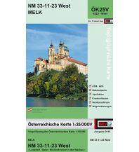 Wanderkarten Niederösterreich BEV-Karte 4323-West, Melk 1:25.000 BEV – Bundesamt für Eich- und Vermessungswesen