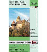 Wanderkarten Niederösterreich BEV-Karte 4304-West, Heidenreichstein 1:25.000 BEV – Bundesamt für Eich- und Vermessungswesen