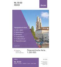 Wanderkarten Schweiz & FL BEV-Karte NL 32-02, Zürich 1:250.000 BEV – Bundesamt für Eich- und Vermessungswesen