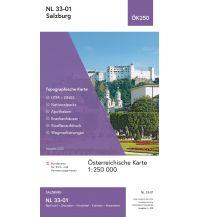 Wanderkarten Salzkammergut BEV-Karte NL 33-01, Salzburg 1:250.000 BEV – Bundesamt für Eich- und Vermessungswesen