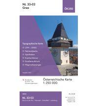 Wanderkarten Steiermark BEV-Karte NL 33-02, Graz 1:250.000 BEV – Bundesamt für Eich- und Vermessungswesen