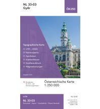 Wanderkarten Österreich BEV-Karte NL 33-03, Győr/Raab 1:250.000 BEV – Bundesamt für Eich- und Vermessungswesen