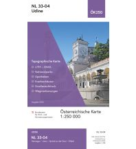Wanderkarten Südtirol & Dolomiten BEV-Karte NL 33-04, Udine 1:250.000 BEV – Bundesamt für Eich- und Vermessungswesen