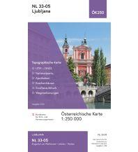 Wanderkarten Österreich BEV-Karte NL 33-05, Ljubljana/Laibach 1:250.000 BEV – Bundesamt für Eich- und Vermessungswesen