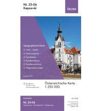 Wanderkarten Ungarn BEV-Karte NL 33-06, Kaposvár 1:250.000 BEV – Bundesamt für Eich- und Vermessungswesen