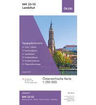Wanderkarten BEV-Karte NM 33-10, Landshut 1:250.000 BEV – Bundesamt für Eich- und Vermessungswesen