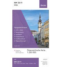 Straßenkarten BEV-Karte NM 33-11, Linz 1:250.000 BEV – Bundesamt für Eich- und Vermessungswesen