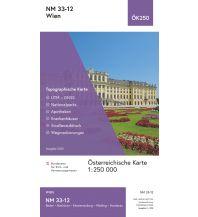 Wanderkarten Wien BEV-Karte NM 33-12, Wien 1:250.000 BEV – Bundesamt für Eich- und Vermessungswesen