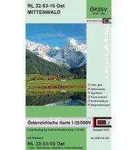Wanderkarten BEV-Karte 2216-Ost, Mittenwald 1:25.000 BEV – Bundesamt für Eich- und Vermessungswesen